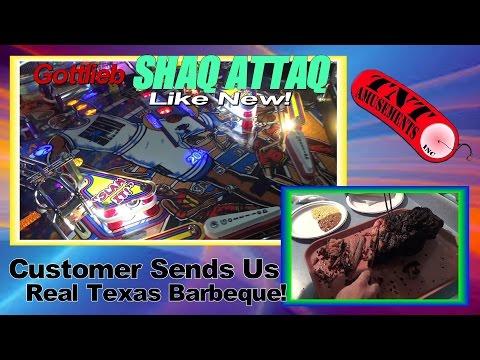 #1102 SHAQ ATTAQ Pinball Privately Owned & Universal COSMIC ALIEN Arcade - TNT Amusements