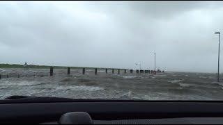Sturmflut am Außenhafen von Husum, 13/09/2017 Orkan Sebastian