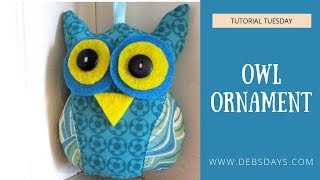 Make an Owl Christmas Tree Ornament Craft Project
