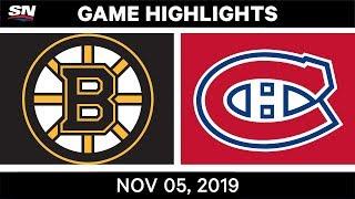 NHL Highlights   Bruins vs. Canadiens – Nov. 5, 2019