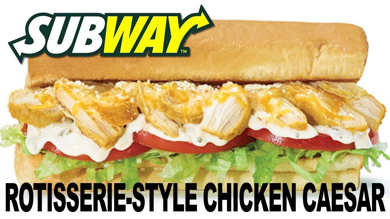 Rotisserie-Style Chicken Caesar Sandwich from Subway