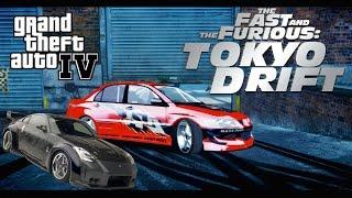 GTA IV. Mitsubishi Evolution VIII (The Fast and The Furious Tokyo Drift)