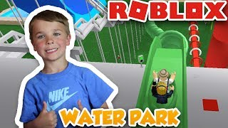 HAVING FUN IN WATER PARK | ROBLOX WATER PARK