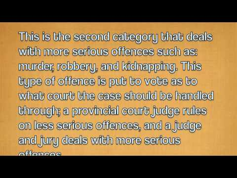 Types of Offences - Ontario, Canada Law