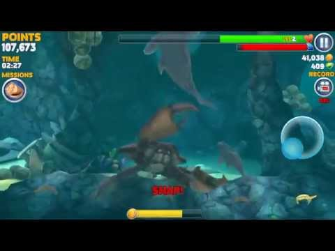 Big Daddy Defeating Giant Crab. Hungry Shark Evolution