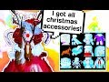 I GOT EVERY SINGLE CHRISTMAS ACCESSORY FROM SANTAS GIFTS 🎁 // Roblox Royale High School