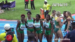 Video Race highlights - Women 4x100m Final - Asaba 2018 African Championships download MP3, 3GP, MP4, WEBM, AVI, FLV September 2018