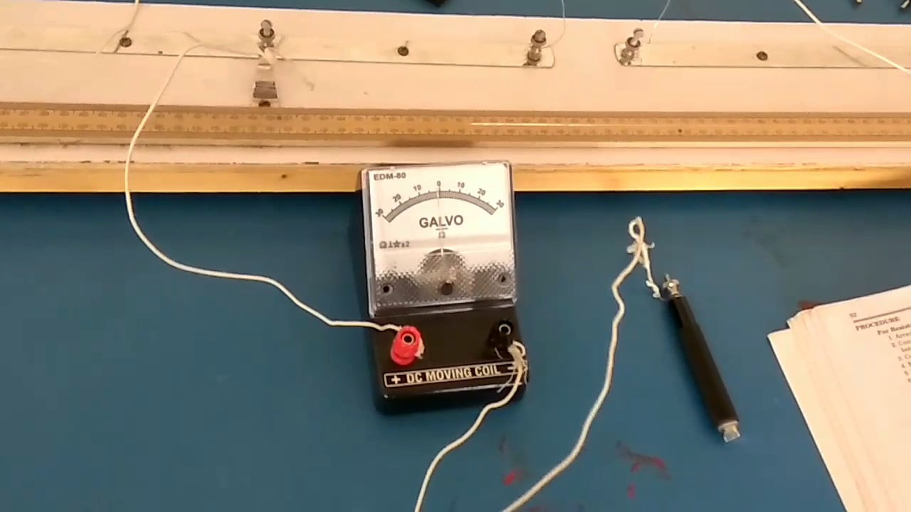 To Find The Resistance Of Given Wire Using Metre Bridge