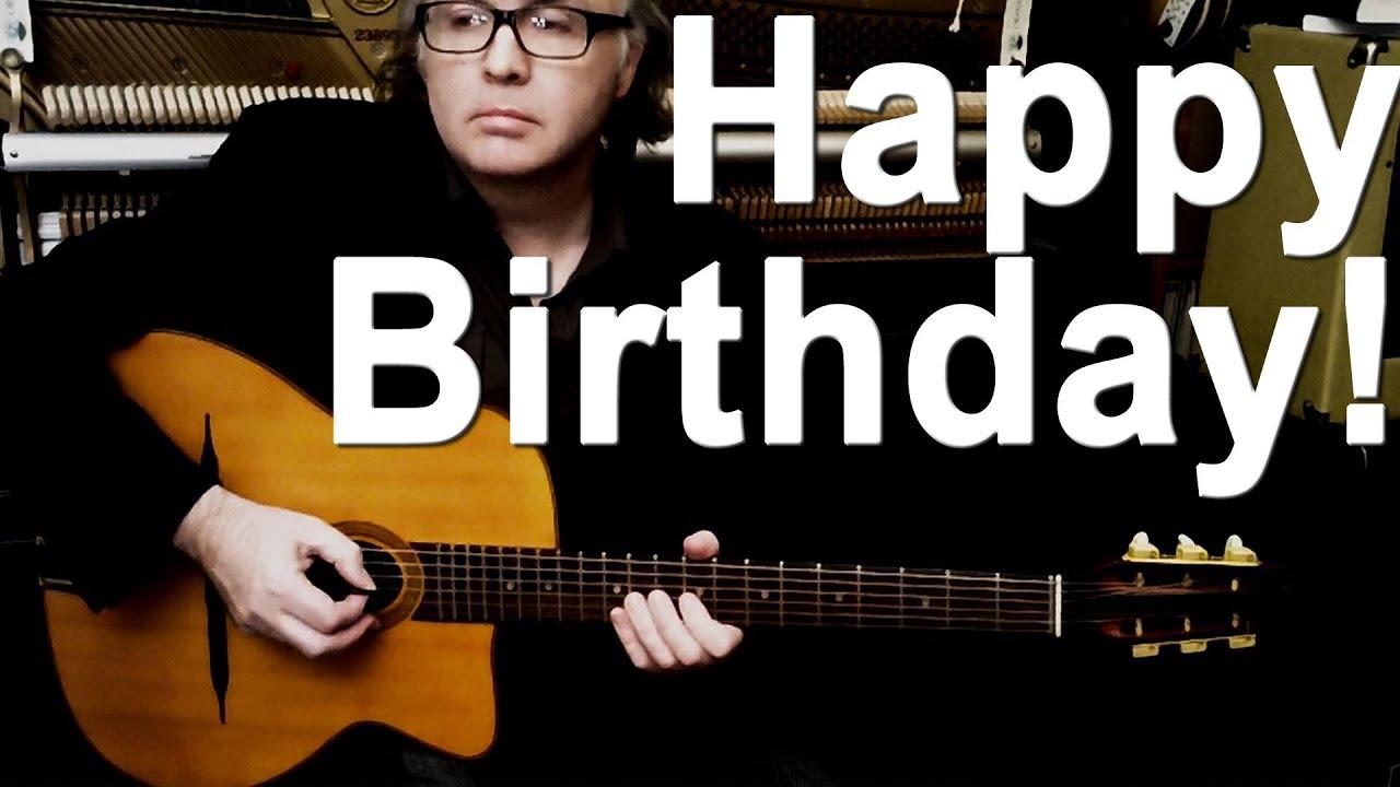 HAPPY BIRTHDAY TO YOU (fun gypsy-jazz guitar Django Reinhardt style!) DC Cardwell - YouTube