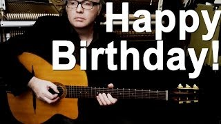 HAPPY BIRTHDAY TO YOU (fun gypsy-jazz guitar Django Reinhardt style!) DC Cardwell