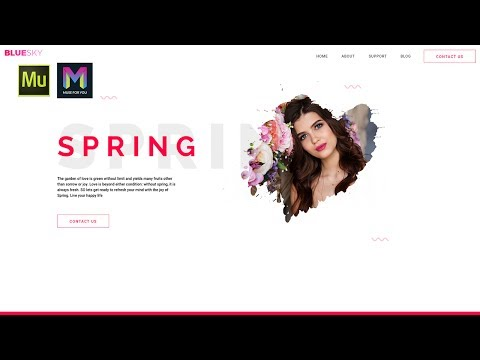Creating a Spring Header in Adobe Muse | Adobe Muse CC | Muse For You
