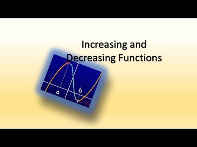Increasing and Decreasing Functions- Maths-Class 12
