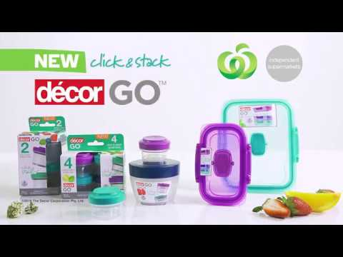 Decor Go Click & Stack Lunch Containers