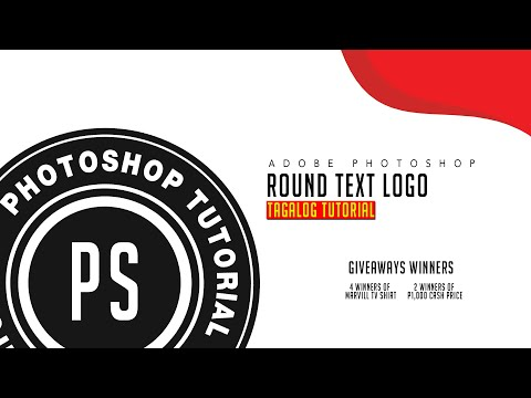 Round Text Logo in Adobe Photoshop Basic Editing Tutorial