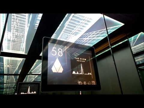 Kone lift/elevator @ Shard of Glass (72 floors), the tallest building in UK and EU
