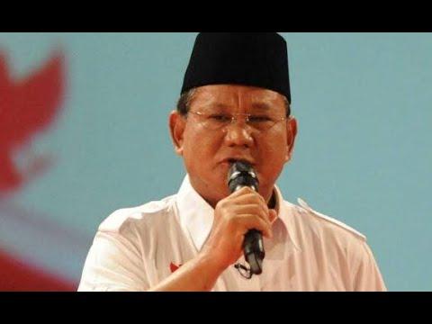 Prabowo Beri Pidato Pembekalan untuk Relawan