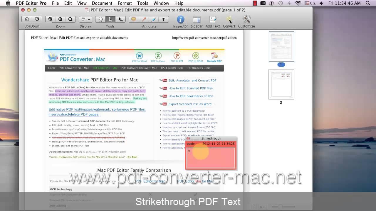[PDF Editor Mac] How to Highlight/Underline/Strikethrough Text in PDF?