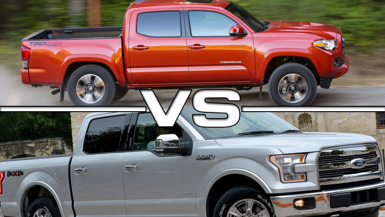 2016 Toyota Tacoma Vs 2016 Ford F 150 Youtube