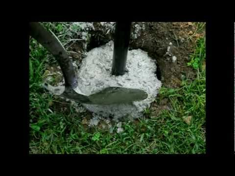 6 Installing Cement Footings Youtube