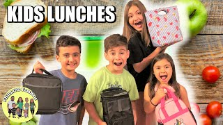 FIRST DAY OF SCHOOL LUNCH IDEAS | A BUNCH OF KIDS LUNCHES | LUNCH PREP FOR BACK TO SCHOOL