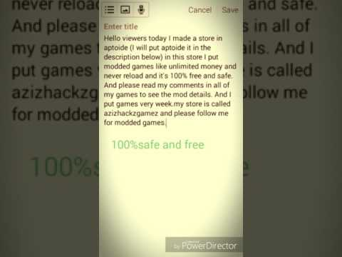 How To Download MODDED GAMES Using Aptoide FOR ANDROID FREE