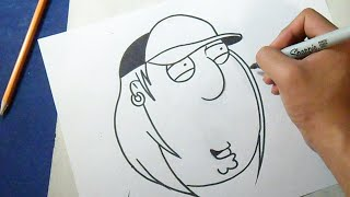 chris griffin from the family guy drawing lesson