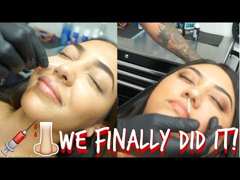 WE GOT OUR NOSE PIERCED!!!//VLOG: 8// COSMOCASSIEE //