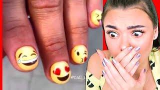 Никогда Не делайте Такой Маникюр! Самый Безумный Дизайн Ногтей в Мире