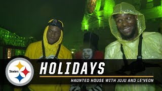 Haunted House: Le'Veon Bell and JuJu Smith-Schuster | Pittsburgh Steelers thumbnail