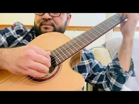 """Turkmen gitara okuwy. """"Gyzlar arzan boljakmysh"""" akkordy we kakuwy. Kopsanly yigitleñ hayyśy üçin."""