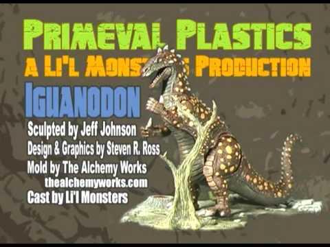 Monster Model Review #80 the Iguanodon by Primeval Plastics