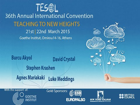 Stephen Krashen presents at the 36th TESOL Greece International Convention