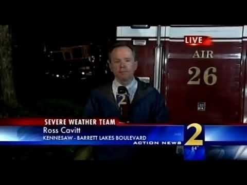 WSB-TV Atlanta Glenn Burns's 11PM Weather Forecast April 23, 2009