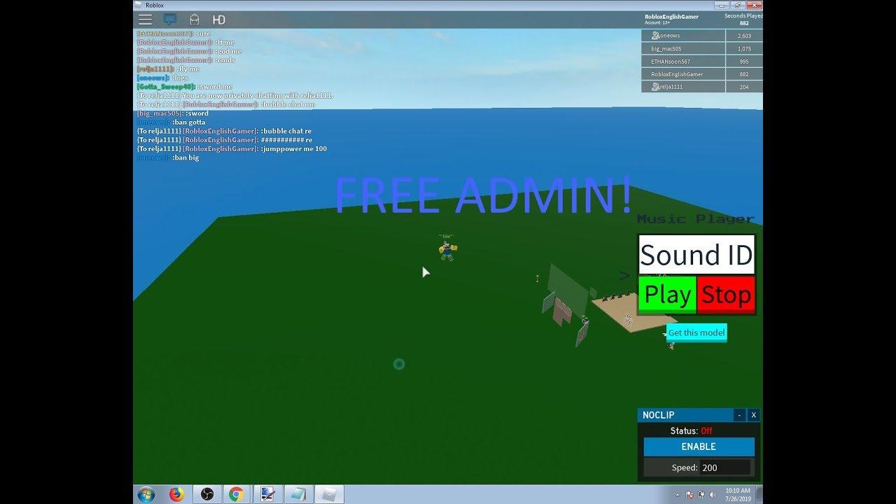 Getting Free Admin!! Roblox Free Admin!