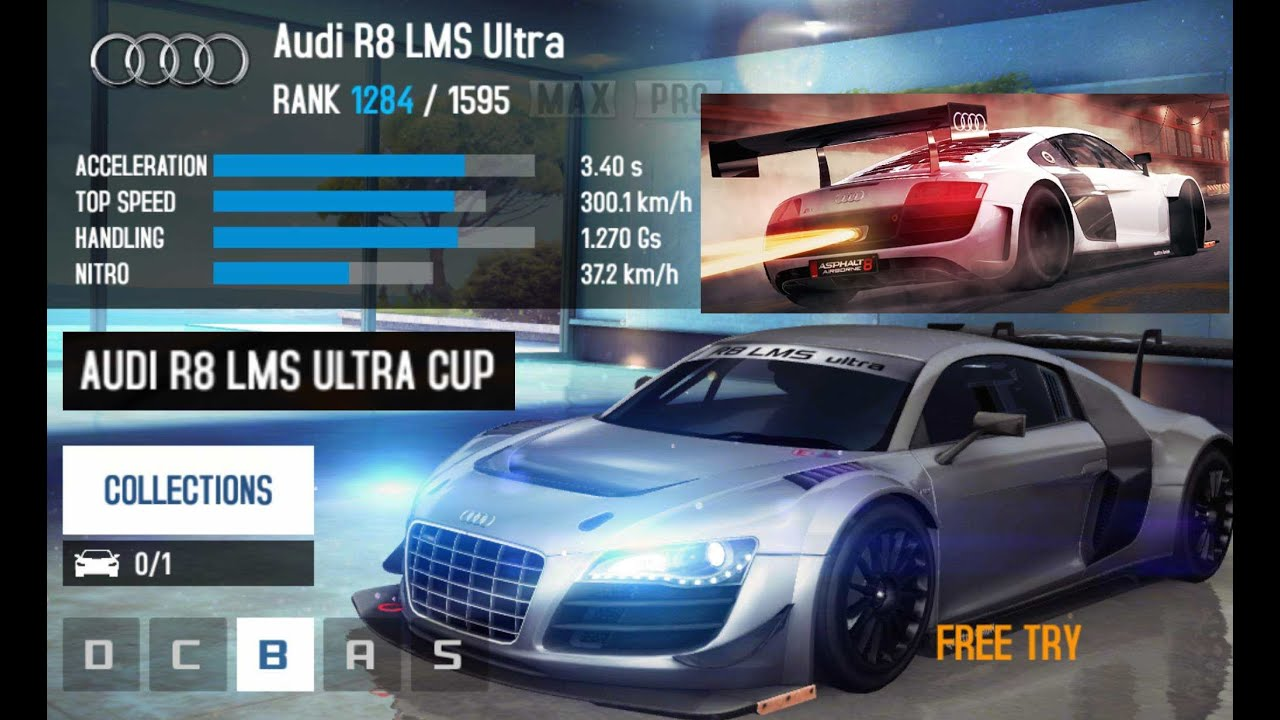 Asphalt 8 Audi R8 Lms Ultra In Nevada Youtube