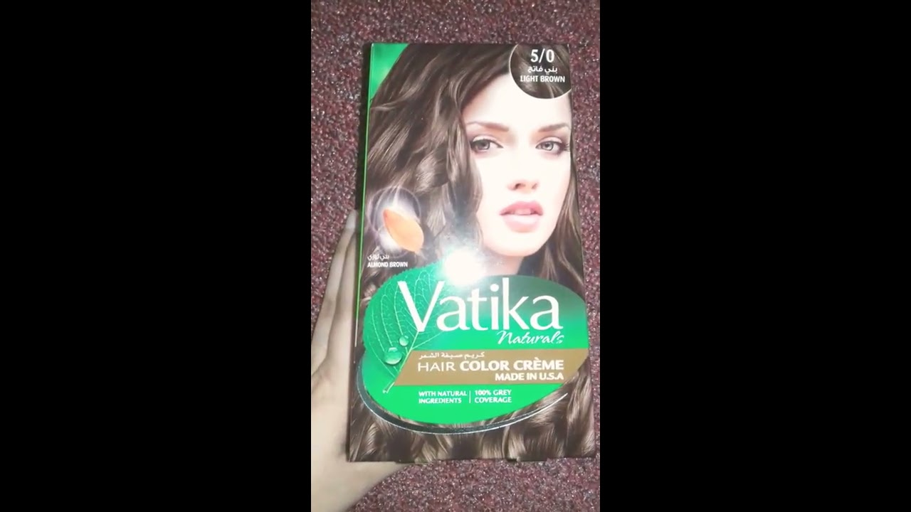 Vatika Naturals Hair Colour Light Brown Review Youtube