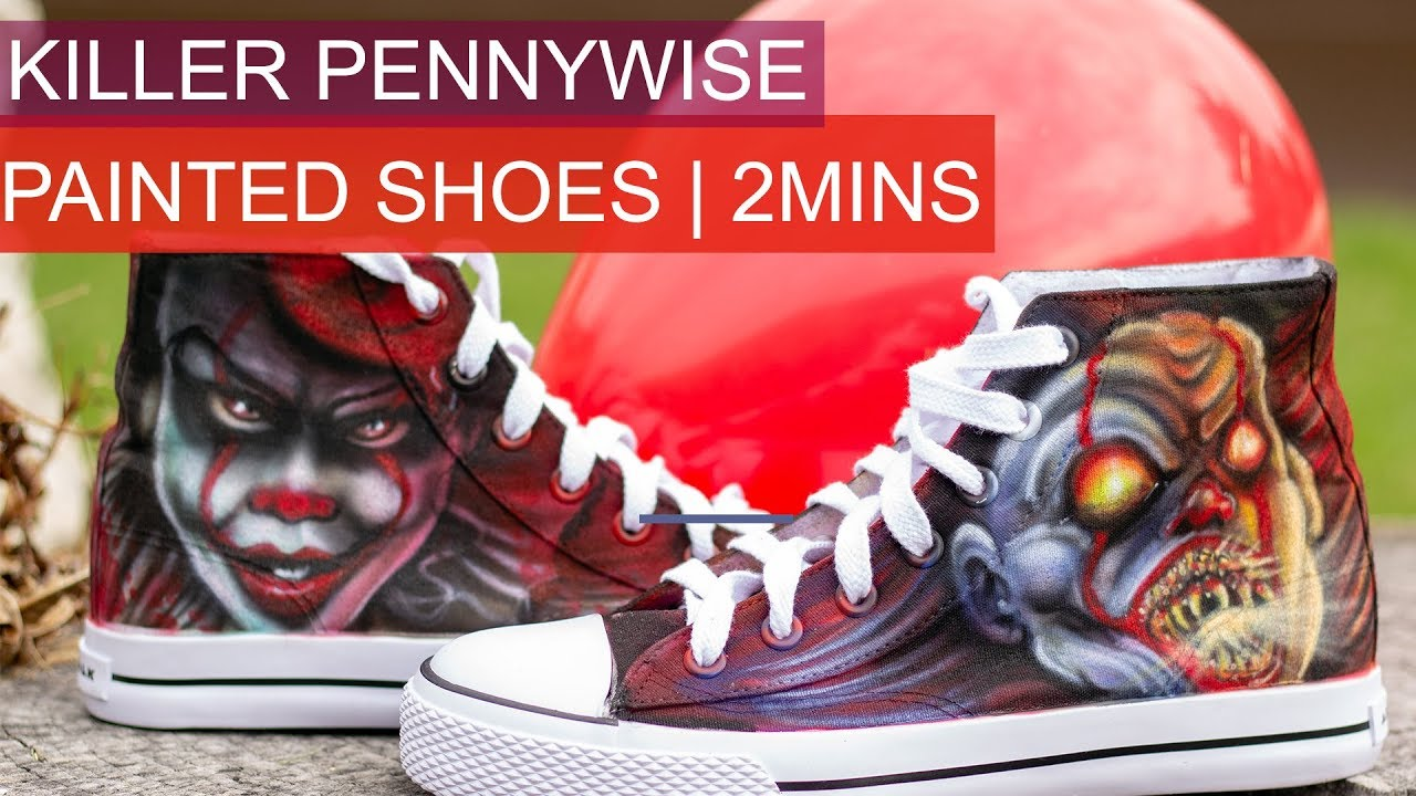 901ed2974e79 Killer Pennywise custom painted shoes