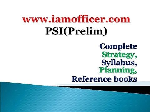 (Video) Study Material of Psi(Strategy,planning)