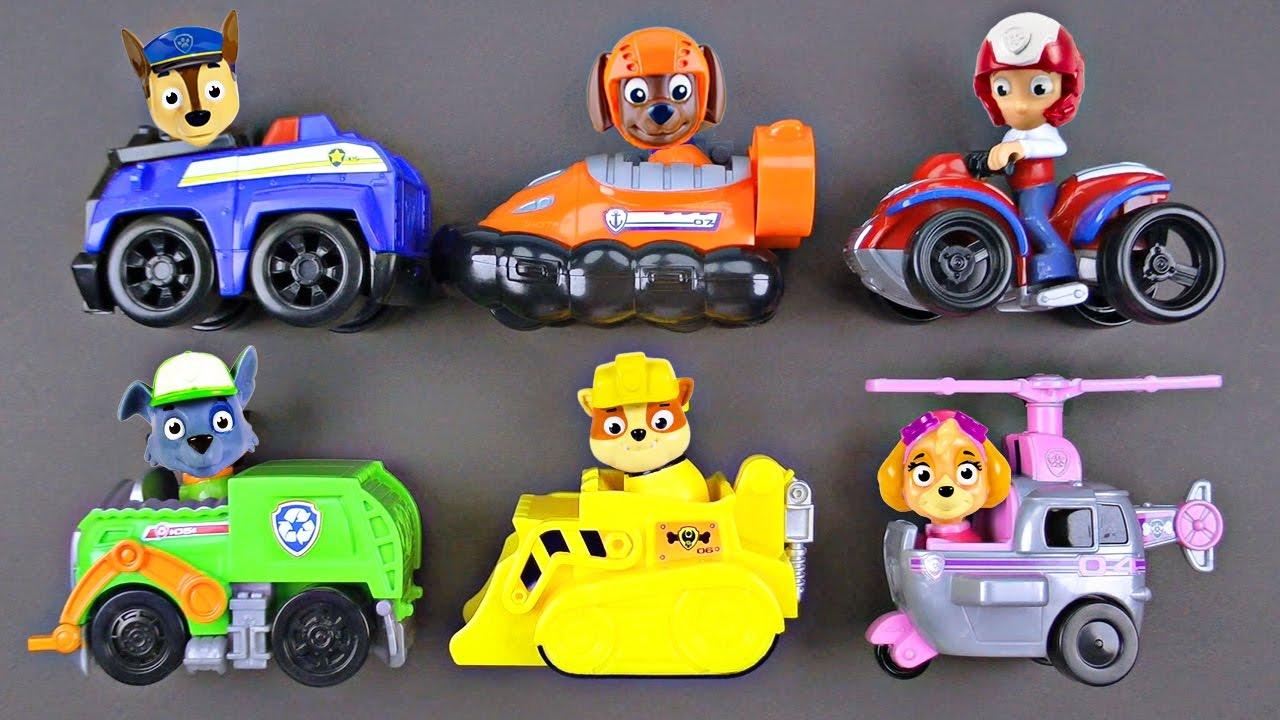 Paw Patrol: Basic Vehicle & Pup - Rescue Marshall   Toy ...   Cars Paw Patrol Pups