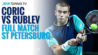 Borna Coric v Andrey Rublev: Full Match | St Petersburg 2020