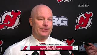John Hynes' Postgame Press Conference After Loss to Leafs | New Jersey Devils | MSG Networks