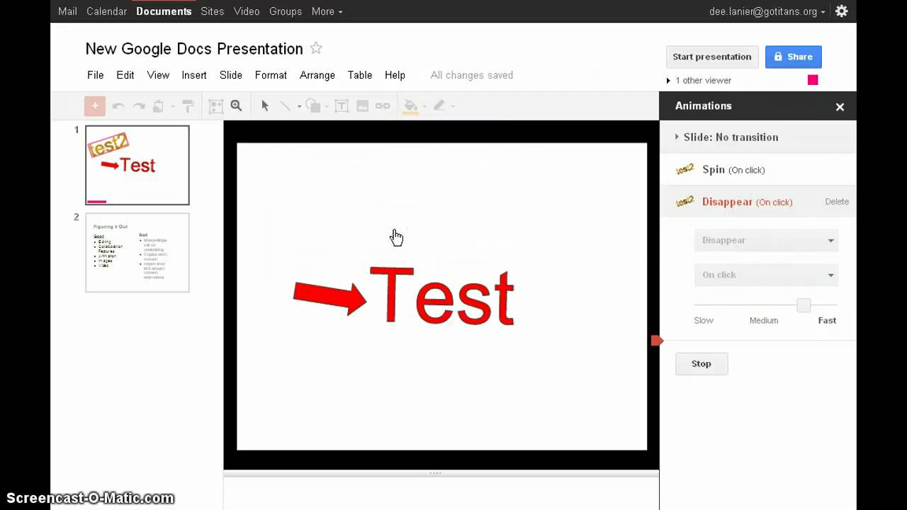 new google docs presentations youtube