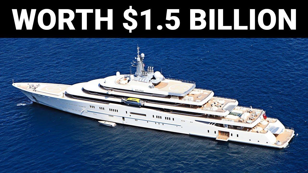 """เรือยอชร์ """"Eclipse"""" The $1.5 Billion Dollar Mega-Yacht"""