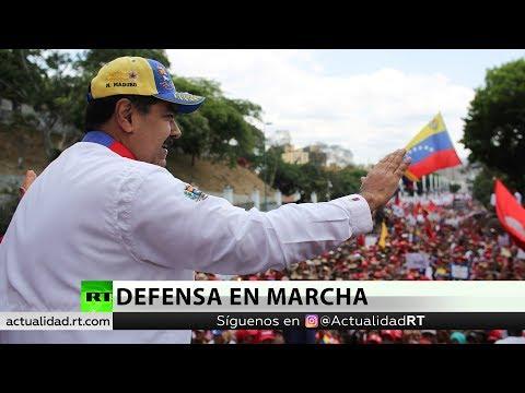 El chavismo marcha contra la intervención y a favor de la paz