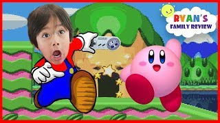 SNES Classic Unboxing & Playing Kirby Super Star Game! Let's play with Ryan's Family Review
