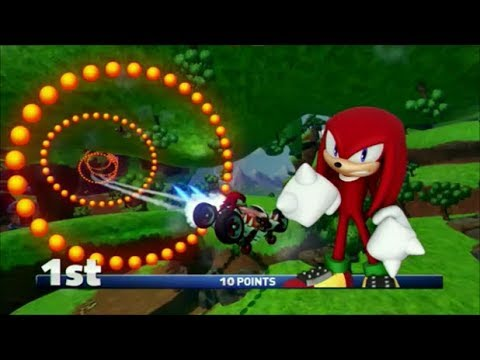 Sonic & All-Stars Racing Transformed (PS3) Knuckles In Emerald Cup (Expert)
