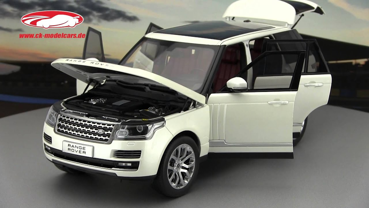 ck modelcars video Land Rover Range Rover white Welly GTA