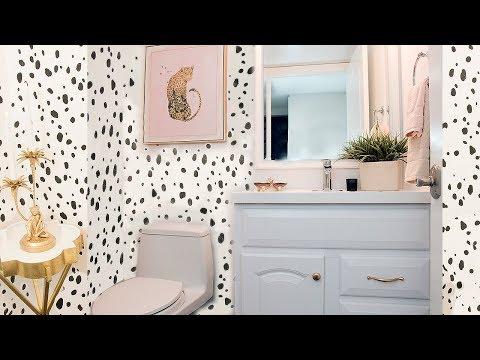 CHEAP BATHROOM MAKEOVER IDEA - HALF BATHROOM