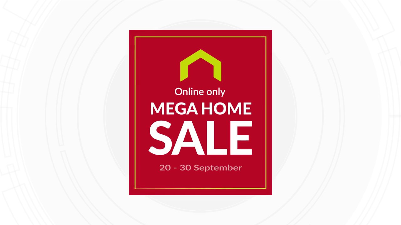 Flat 40% off furniture! Online Only Mega Home Sale - YouTube