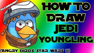 How To Draw Jedi Youngling Bird from Angry Birds Star Wars 2 ✎ YouCanDrawIt ツ 1080p HD